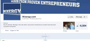 FB Screenshot of Mixergy