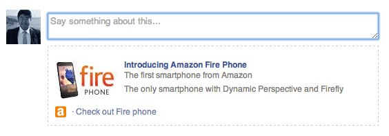 Amazon Fire Post to FB