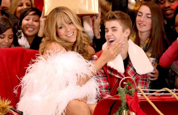 Image result for christmas justin bieber mariah