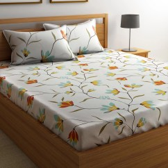 Cotton Sofa Covers India Fabric Materials For Sofas Flipkart Smartbuy Floral Double Bedsheet Buy