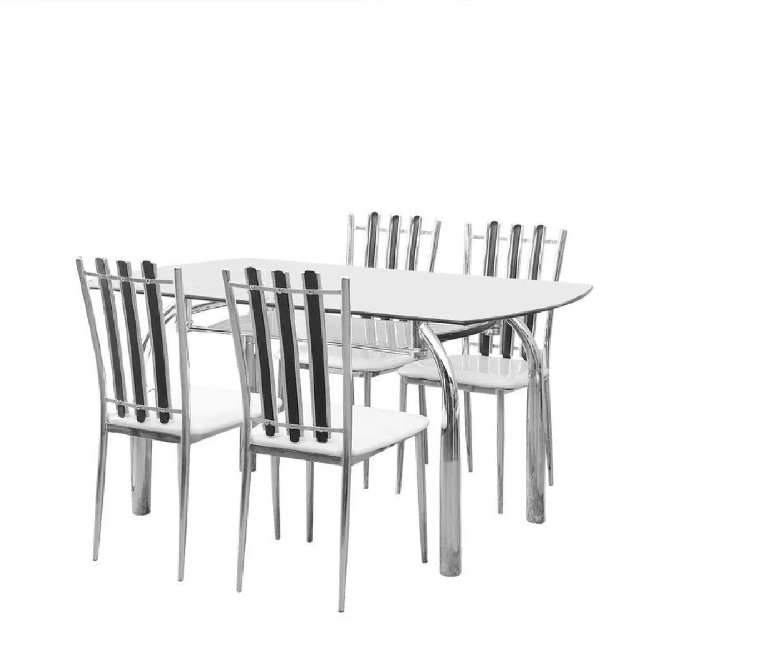 steel chair flipkart bath with wheels nilkamal chrysanta glass 4 seater dining set price in