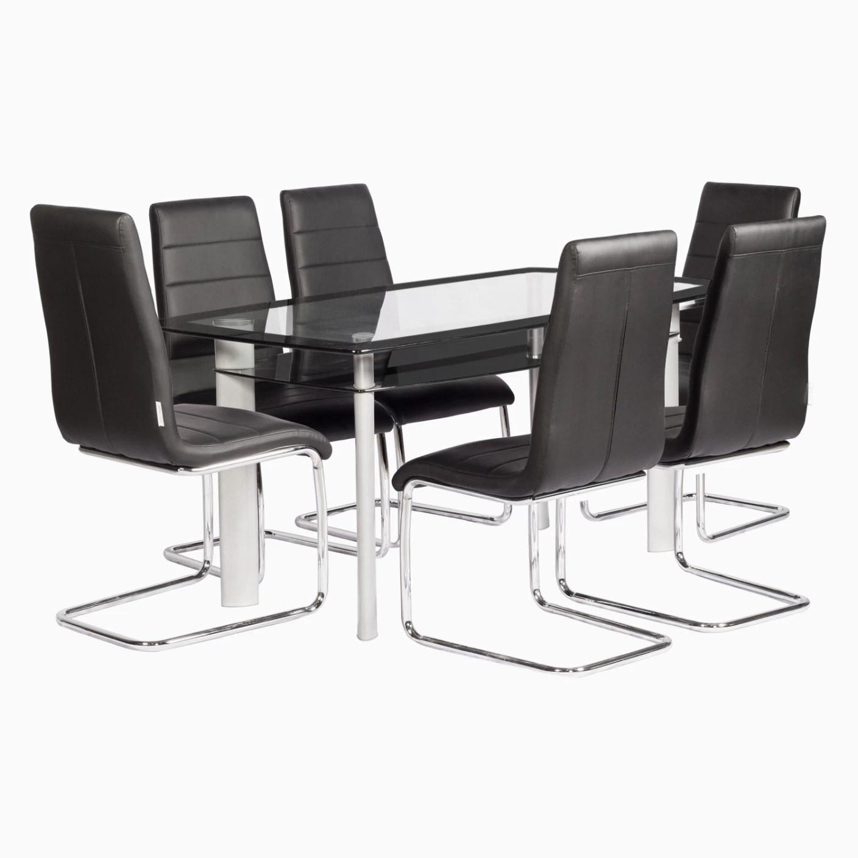 steel chair flipkart unfinished desk godrej interio glaze and pluto dining set glass 6 seater