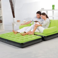 Bestway Inflatable Air Sofa Couch Bed 3 Seater Set India Karmax Pvc Color Green