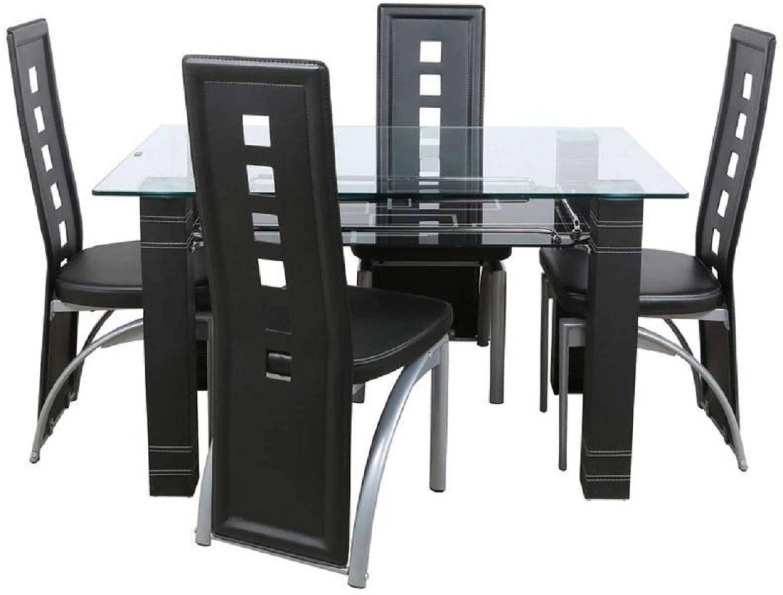steel chair flipkart hardwood floor protector parin glass 4 seater dining set price in india buy