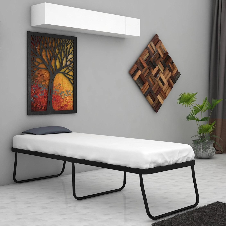 steel chair flipkart lounge cushions cheap camabeds needus premium folding metal single bed price in