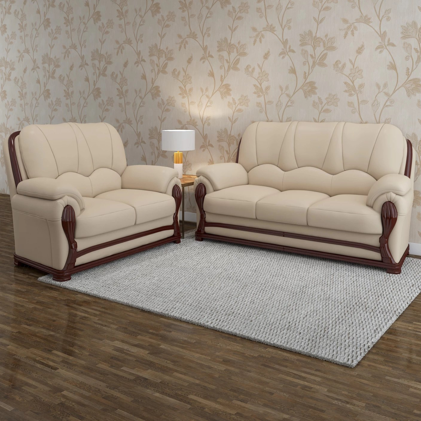 corner sofa set online india malaysian wood furniture vintage ivoria fabric 3 43 2 mahogany price in