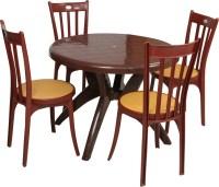 Supreme Teak Wood Plastic Table & Chair Set Price in India ...