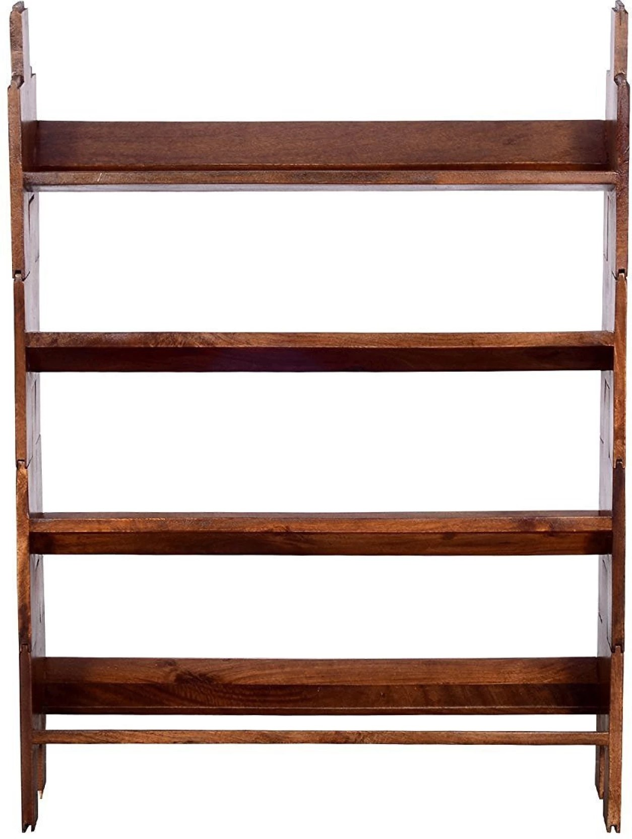 Ringabell Folding Solid Wood Open Book Shelf Price In India