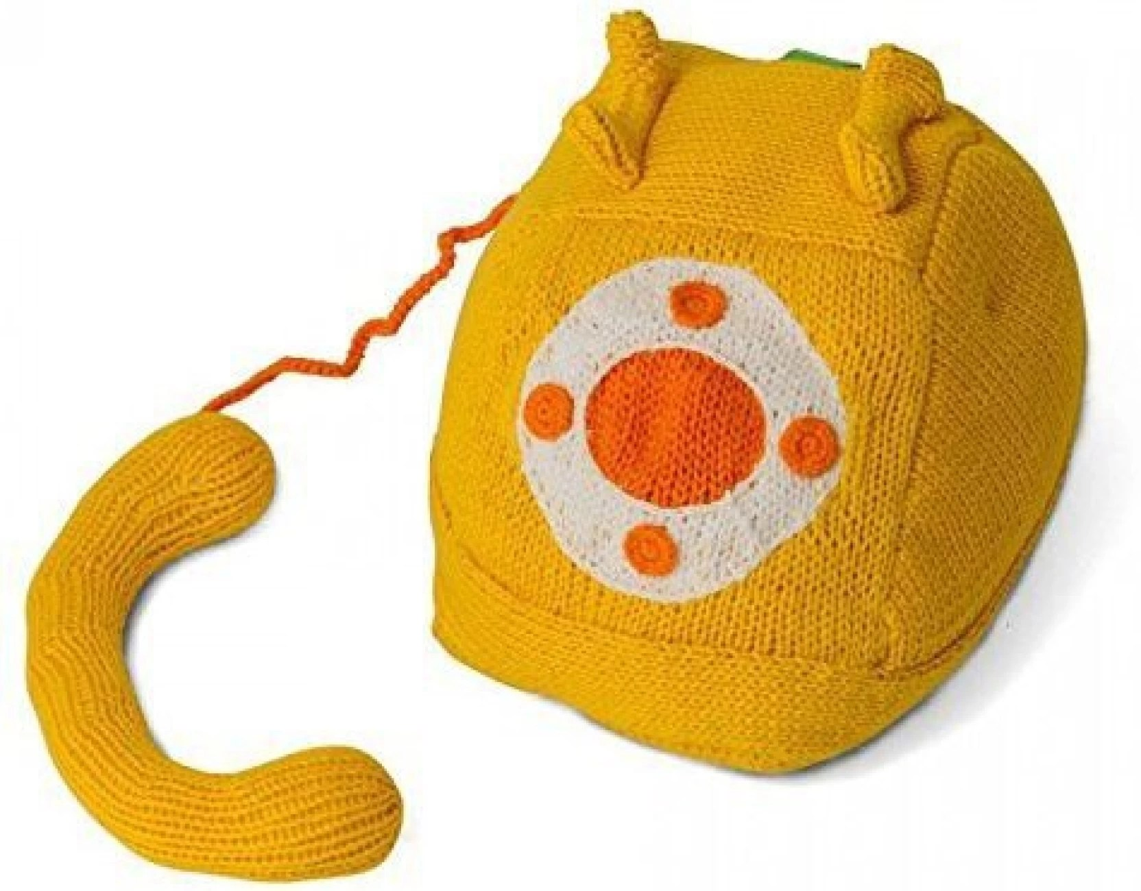 hight resolution of estella pil phone hand knit rotary phone plush toy 9 inch multicolor