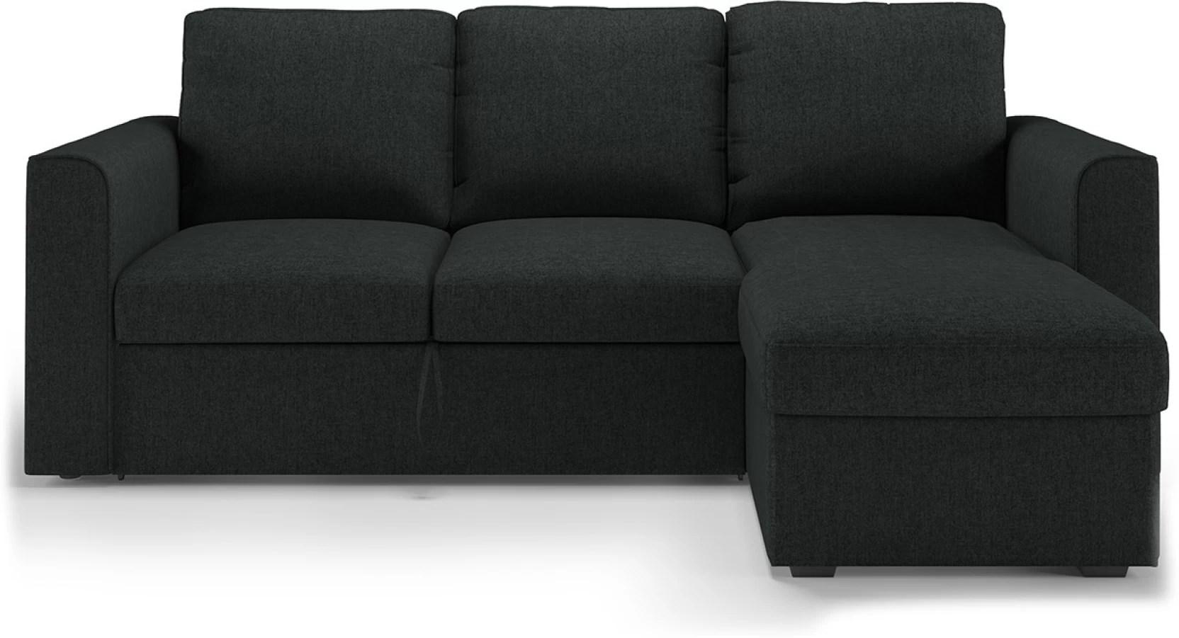 wood sofa bed with storage ashley furniture alenya reviews urban ladder kowloon sectional cum