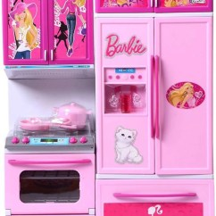 Barbie Kitchen Playset Copper Accents Presentsale Beautiful Play Set Toy With Light Sound On Offer