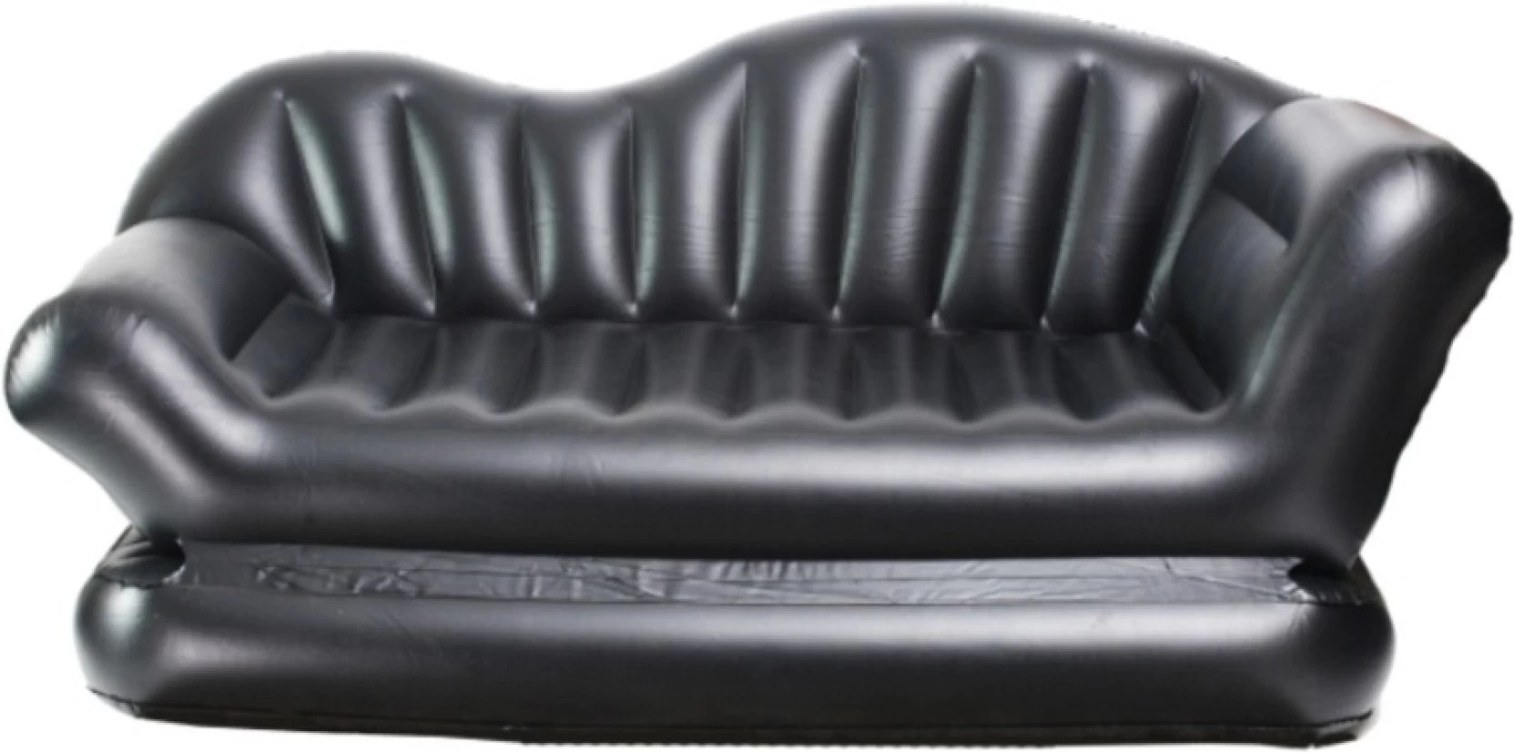 inflatable double sofa bed mattress seat w pump sure fit reclining slipcover telebrands cum air lounge pvc multipurpose
