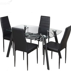 Two Seater Dining Table And Chairs India Office Chair Cushion For Back Pain Royaloak Milan Glass 4 Set Price In