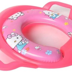 Hello Kitty Potty Chair Computer For Home Www Miifotos Com Kidoyzz Soft Padded Print Training Toilet Seat With Handles Share Jpg 1664x1093