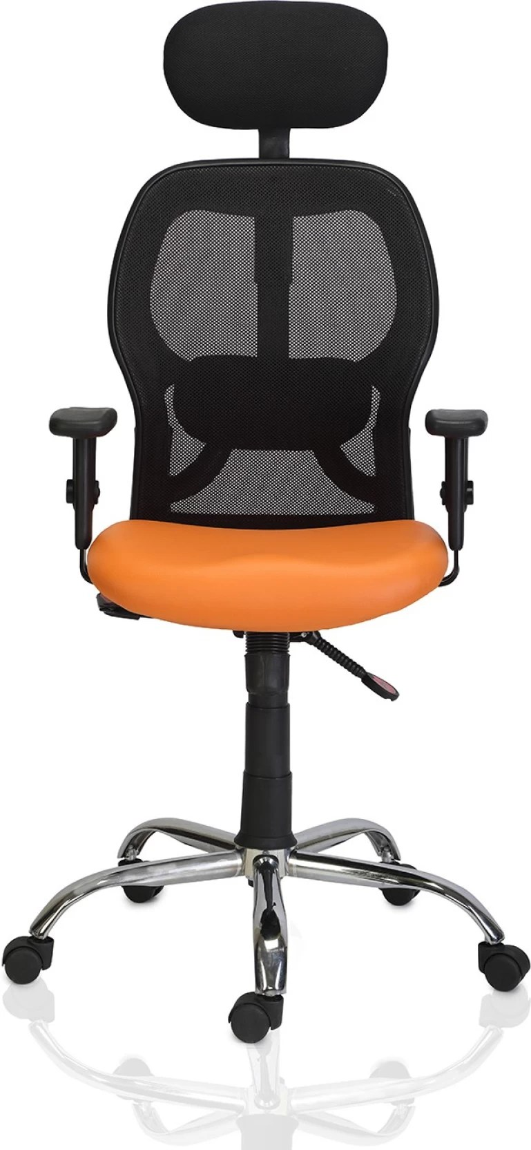 Orange Office Chairs Green Soul New York High Back Mesh Office Chair Orange Leatherette Office Executive Chair