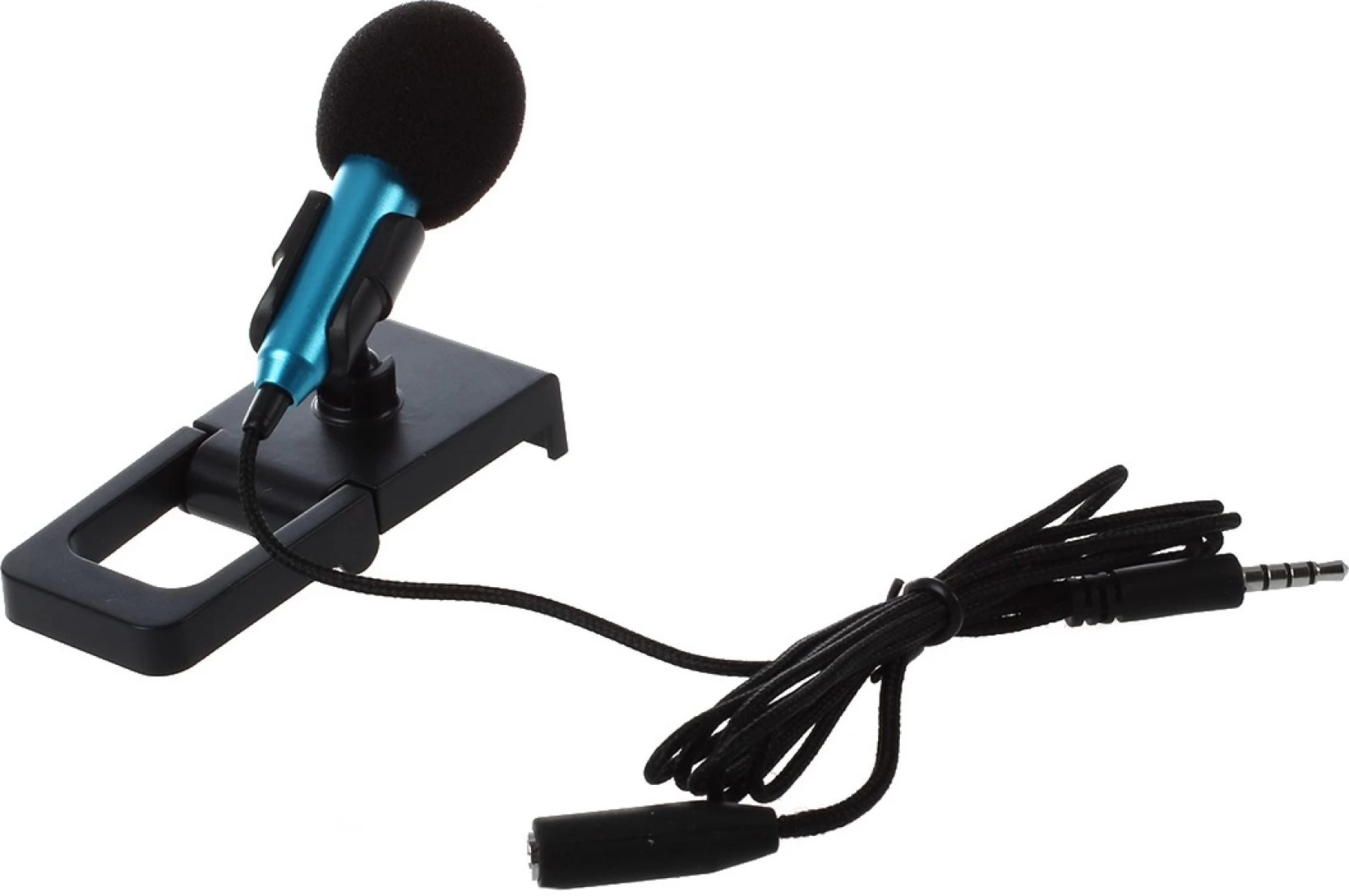 medium resolution of rhonnium 3 5mm audio plug wired mini microphone portable stereo condenser with mic stand microphone on offer