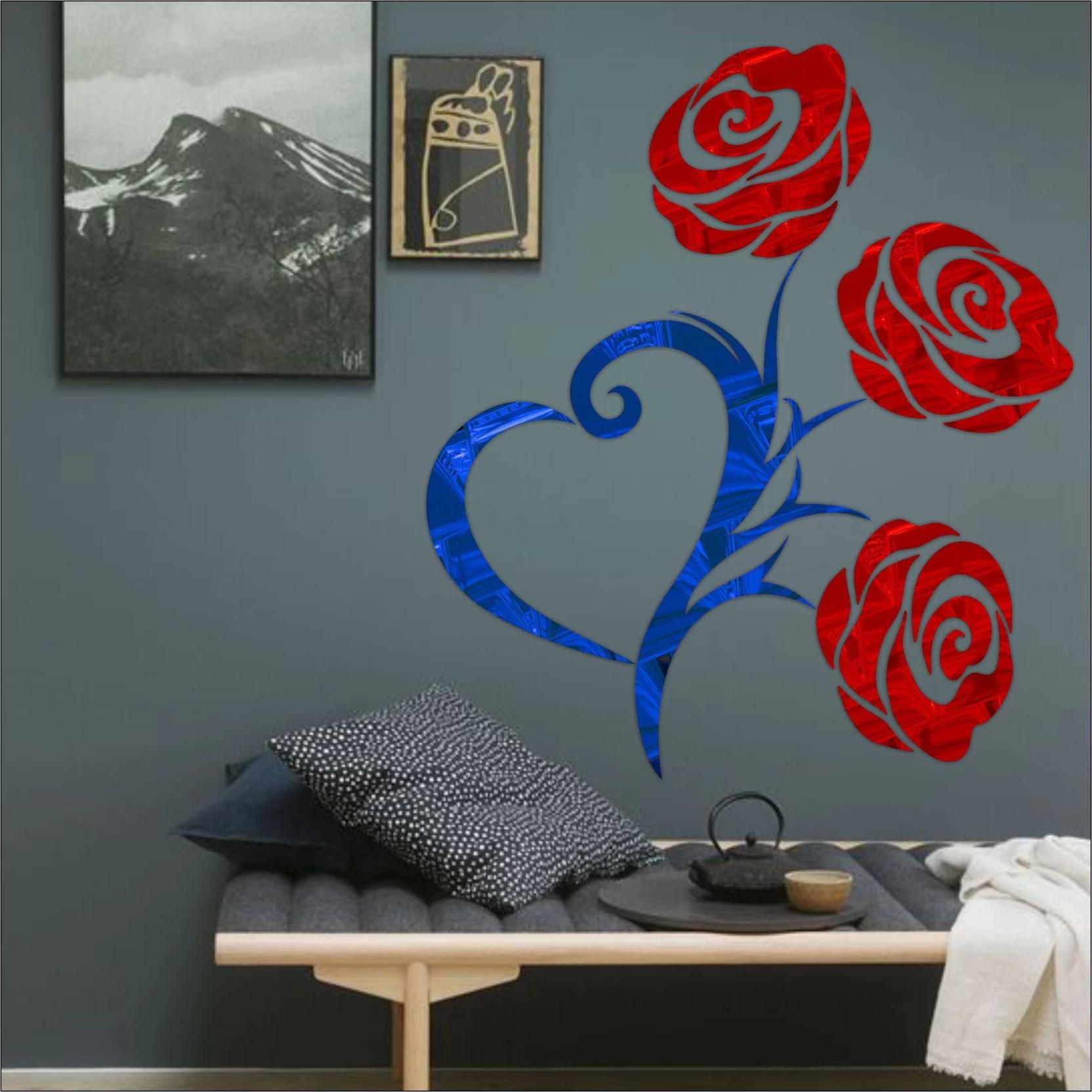 Look Decor Extra Large Look Decor Heart Rose Code17acrylic