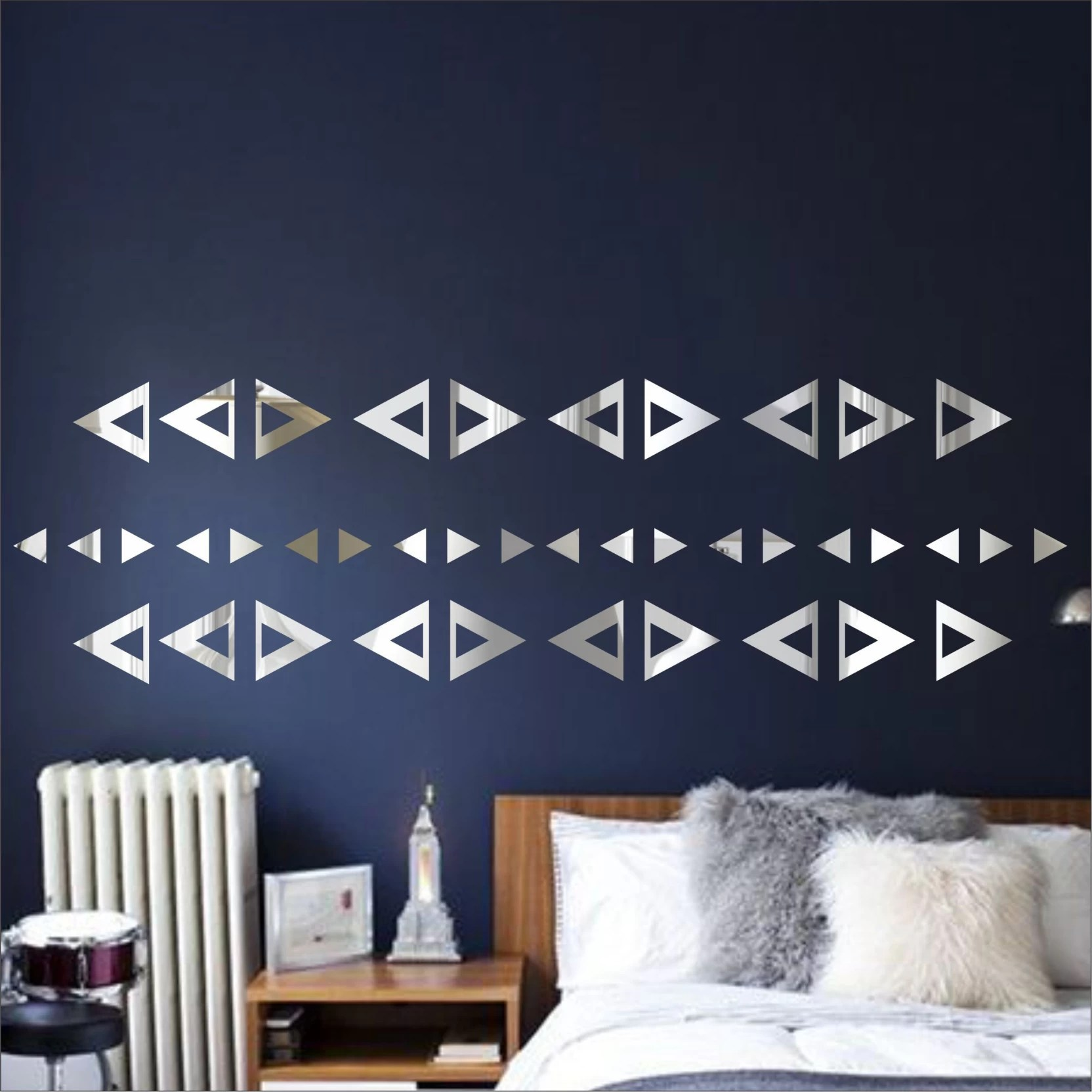 Look Decor Extra Large Triangle Angle Silver Pack 40
