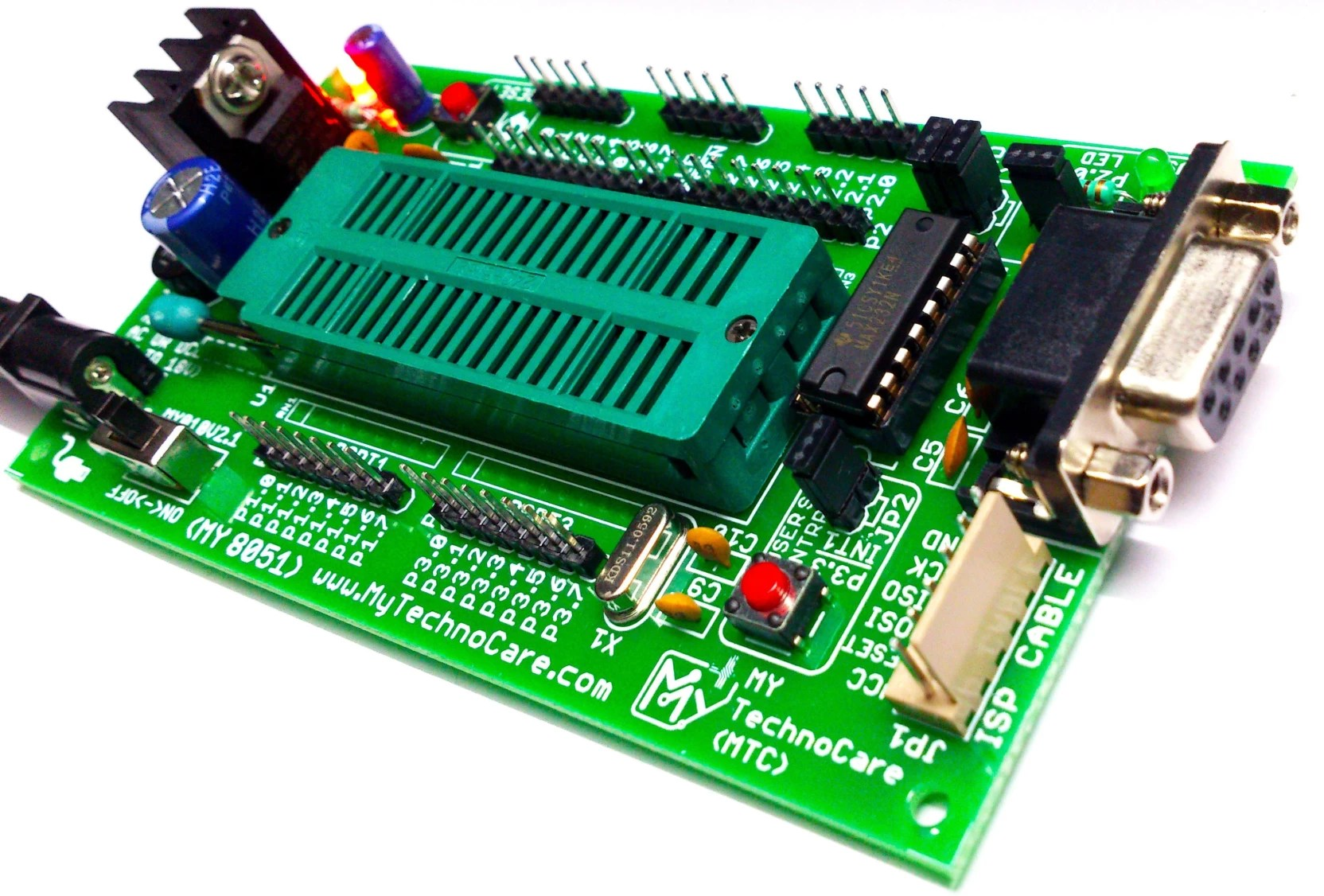 medium resolution of my technocare atmel 8051 development board zif socket max232 without at89s52 microcontroller ic support 89s51 xx 89cxx p89v51rd2 architecture 40 pin chip