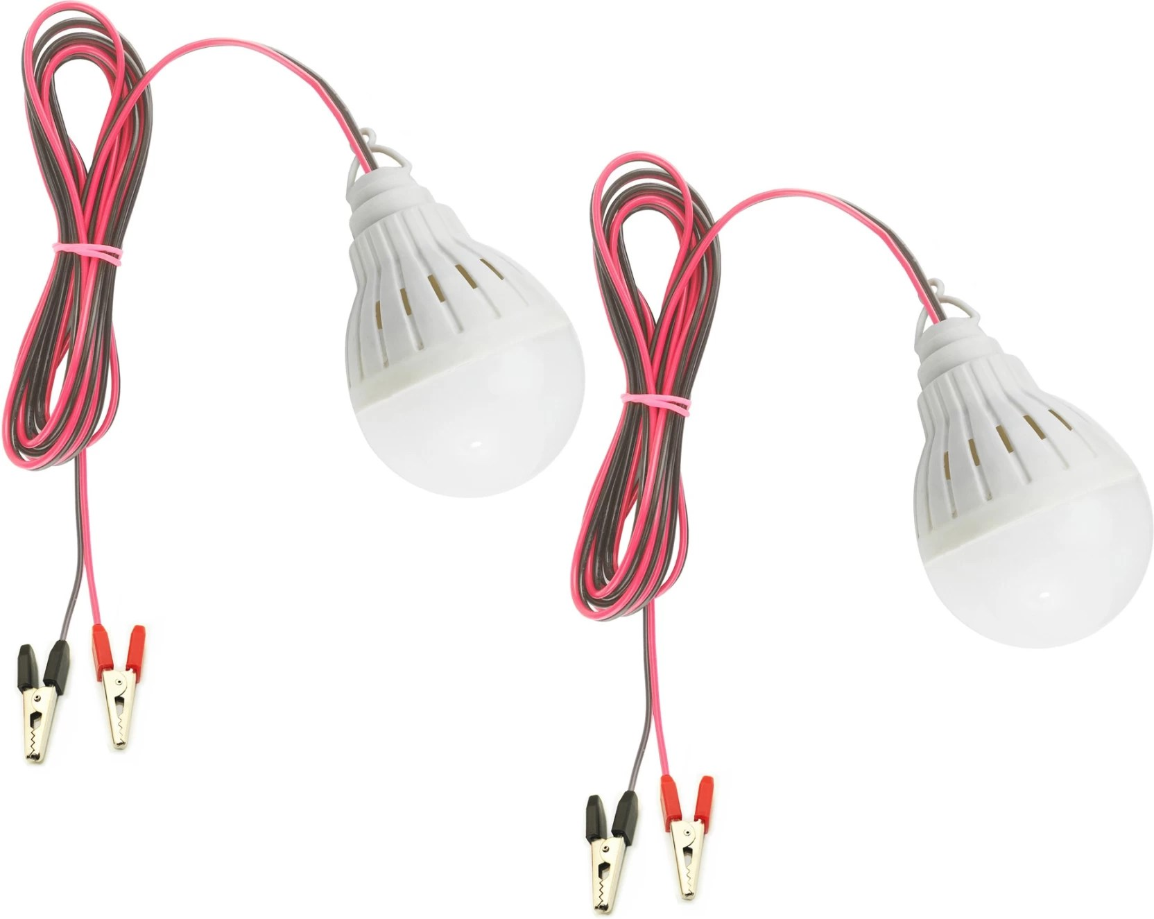 nasa tech 12v 5watts dc solar led light high brightness bulb with 2mtr long wire and clips pack of 2 emergency light white  [ 1664 x 1325 Pixel ]