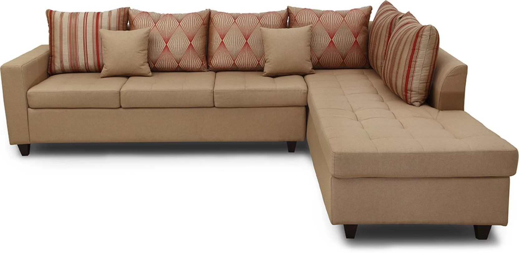 leather fabric for sofa india full size bi fold futon bed hometown belmont lhs 6 seater modular price in