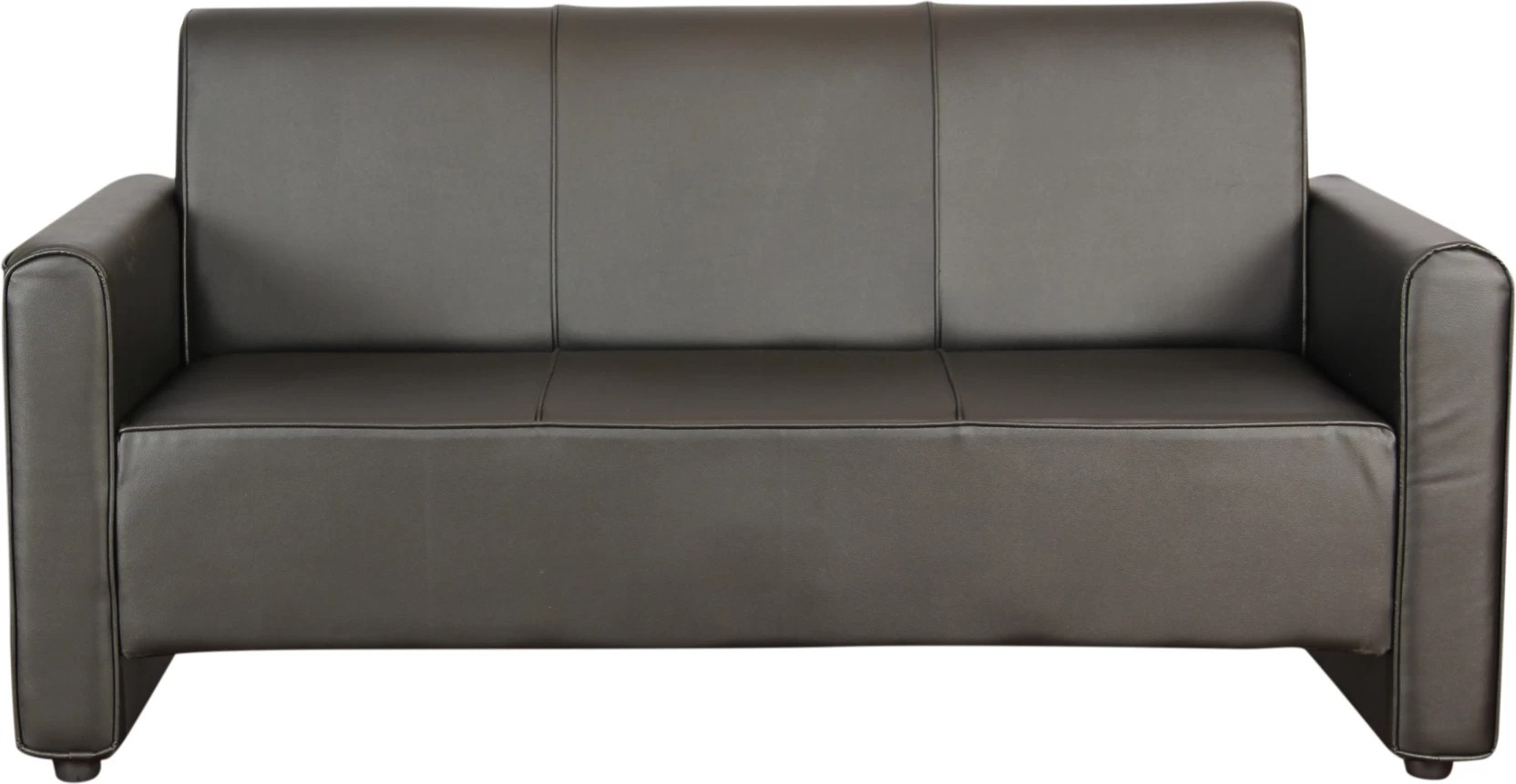 black leather sofa set price in india sofas glasgow uk kurlon bullet leatherette 3 seater