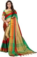 Saara Self Design Kanjivaram Poly Silk Saree
