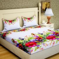 Bombay Dyeing 160 TC Microfiber Double Printed Bedsheet