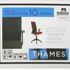 Revolving Chair Thames Swivel Without Wheels Nilkamal Nylon Office Black Best Price In India Chairblack