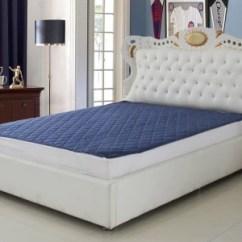Living Room Mattress India English Furniture Super Elastic Strap Standard Size Protector Blue Best