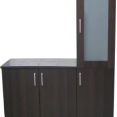 Kitchen Cabinet Price Glass Tiles For Backsplashes Cabinets In India Compare Eros Engineered Wood Crockery Finish Color Walnut