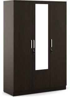 Ewood Engineered Wood 3 Door Free Standing Wardrobe