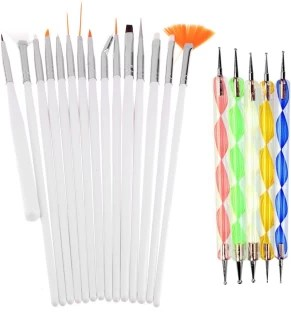 New Nail Art Sting Set St Kit 2 In1 Ser And Square