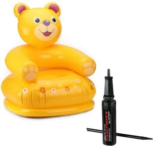 beanless sofa air chair corte ingles sofas chaise longue intex original inflatable giant football bag kids happy animal teddy with hand pump