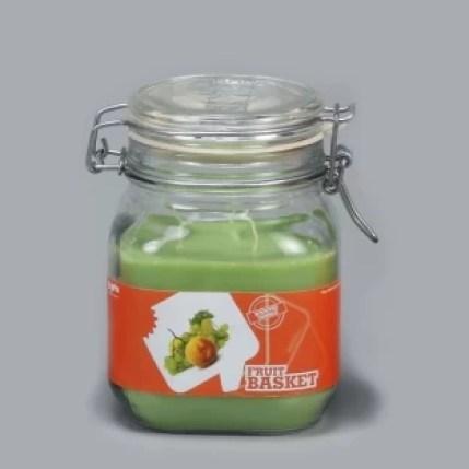 GoGifts Square Empire Jar Candle - Fruit Basket