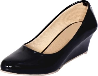 Womens Black Slip On Leather Shoes
