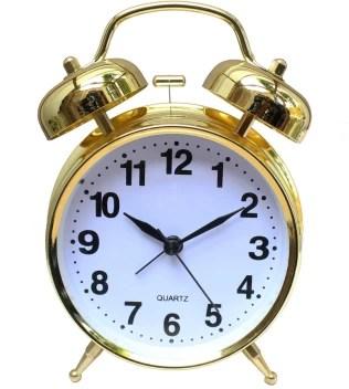 Og Gold Twin Bell Alarm Clock