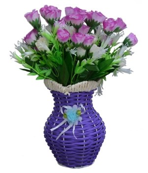 Sky Trends Artificial Flowers With Flower Pot Flower Vase For Home Decoration Flower Pot With Artificial Flowers 049 Plastic Vase Price In India Buy Sky Trends Artificial Flowers With Flower