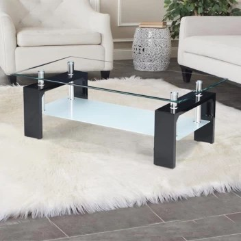 royaloak cyra glass coffee table