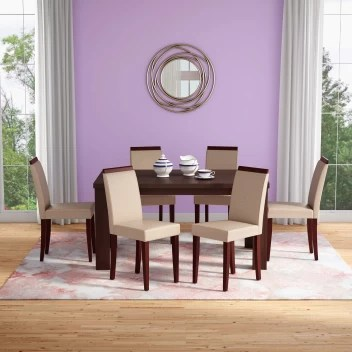 Godrej Interio Jack Dining Table Brown Black Engineered Wood 6 Seater Dining Table Price In India Buy Godrej Interio Jack Dining Table Brown Black Engineered Wood 6 Seater Dining Table Online