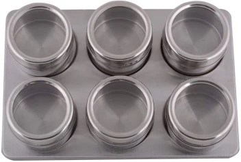 Sakar 6 Pcs Magnetic Spice Rack Stainless Steel Magnetic Spice Rack 6 Piece Condiment Set Price In India Buy Sakar 6 Pcs Magnetic Spice Rack Stainless Steel Magnetic Spice Rack 6