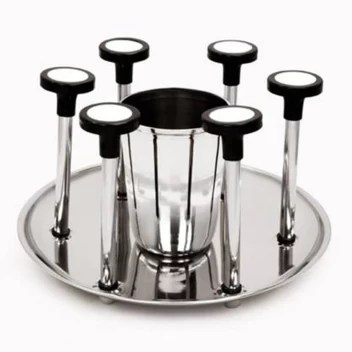 kitchen dining table steel glass holder