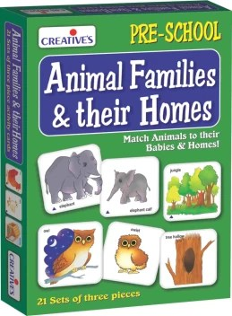 Creatives Animal Families And Their Homes Animal Families And Their Homes Buy Animals Toys In India Shop For Creatives Products In India Toys For 6 9 Years Kids Flipkart Com