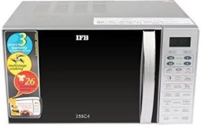 IFB 25 L Convection Microwave Oven(25SC4, Metallic Silver)