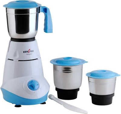 Lowest :- Kenstar Magna 500W Mixer Grinder (White/Turquoise)@ ₹1429 [MRP ₹3495] For Rs. 1429 @59% Off MRP Rs. 3495