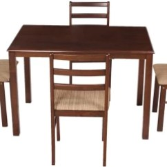 Kitchen Table Chairs Set Blanco Undermount Sinks Dining Tables Sets Price In India Woodness Solid Wood 4 Seater Finish Color Wenge