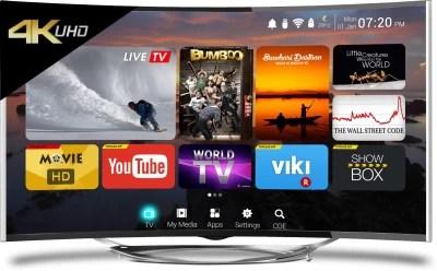 CloudWalker Cloud TV 139cm (55) Ultra HD (4K) Curved LED Smart TV(CLOUD TV 55SU-C)