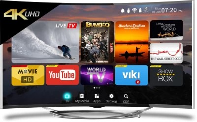 CloudWalker Cloud TV 139cm (55) Ultra HD (4K) Curved LED Smart TV(CLOUD TV 55SU-C)