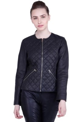 Justanned Full Sleeve Solid Women Jacket