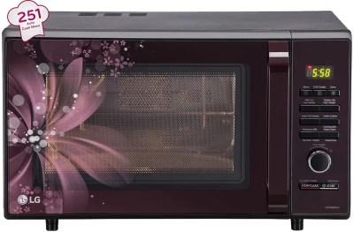 lg 28 l charcoal convection microwave oven mj2886bfum black